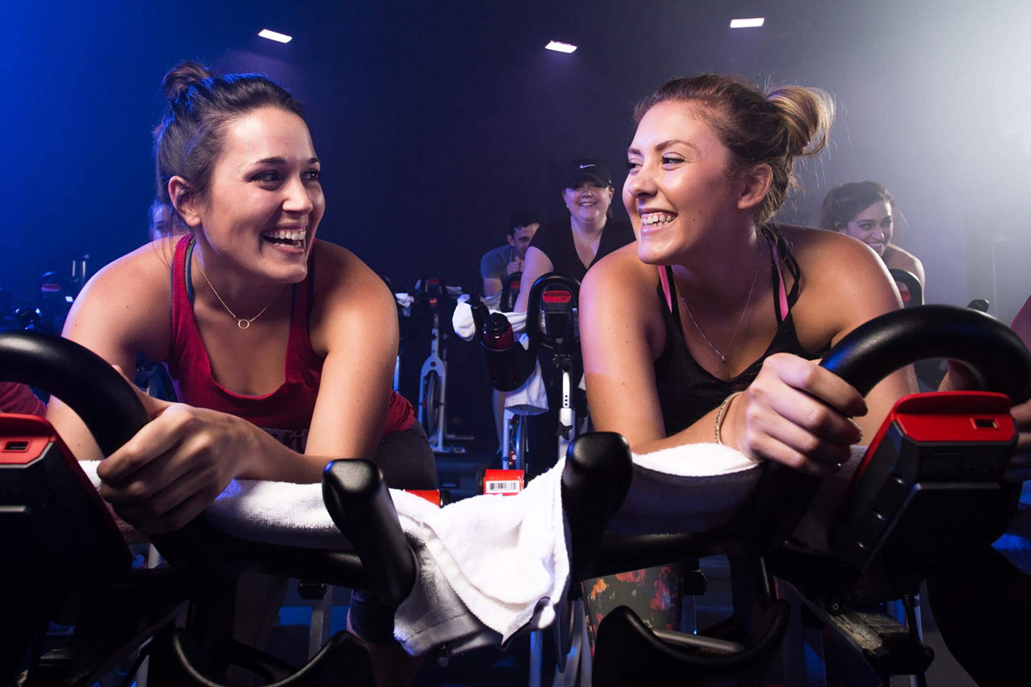 ladies spinning